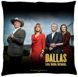 Dallas - Cast Throw Pillow Throw Pillow