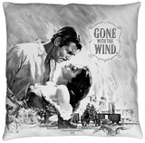 Gone With The Wind - Bw Poster Throw Pillow Throw Pillow
