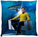 Star Trek - Captains Chair Throw Pillow Throw Pillow