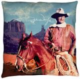 John Wayne - Monument Man Throw Pillow Throw Pillow