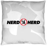 Chuck - Nerd Herd Throw Pillow Throw Pillow