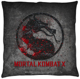 Mortal Kombat X - Stone Logo Throw Pillow Throw Pillow