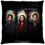 Vampire Diaries - Stained Glass Throw Pillow Throw Pillow