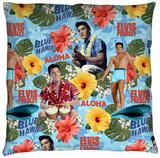 Elvis - Blue Hawaii Throw Pillow Throw Pillow