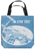 Star Trek - Enterprise Blueprint Tote Bag Tote Bag