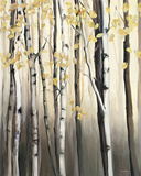 Golden Birch II Poster by Marilyn Hageman