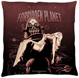 Forbidden Planet - Poster Throw Pillow Throw Pillow