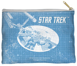 Star Trek - Enterprise Blueprint Zipper Pouch Zipper Pouch