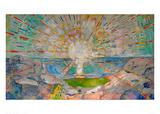 Solen Gicléetryck av Edvard Munch