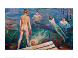Bathing Boys, 1895 Giclee Print by Edvard Munch
