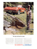 GM Corvette Flew the Coupe Posters