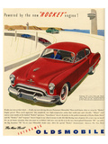 GM Oldsmobile - Rocket Engine Affiches