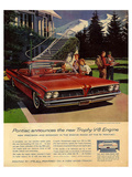 GM Pontiac - Trophy V-8 Engine Poster