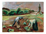 Potato Harvest, 1924 Giclee Print by Edvard Munch