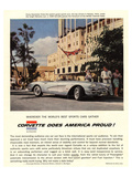 GM Corvette Does America Proud Posters