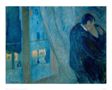 The Kiss, 1892 Giclee Print by Edvard Munch