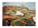 Big Coastal Landscape, 1918 Giclee Print by Edvard Munch