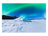 Intense Northern Lights Aurora Posters