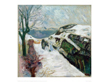Winter Landscape, 1910 Giclee Print by Edvard Munch