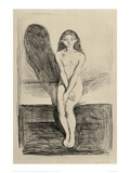 Puberty Black and White, 1894 Giclee Print by Edvard Munch