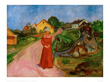 Woman in a Red Dress, 1904 Giclee Print by Edvard Munch
