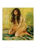 Nude Kneeling Giclee Print by Edvard Munch