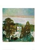 White Night, 1901 Giclee Print by Edvard Munch