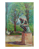 The Thinker by Rodin, 1907 Giclee Print by Edvard Munch