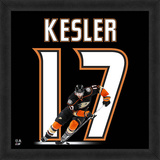 Ryan Kesler, Ducks Framed photographic representation of the player's jersey Framed Memorabilia