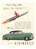 GM Oldsmobile- Ride the Rocket Affiche