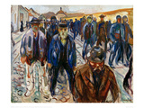 Workers on the Way Home Giclee Print by Edvard Munch