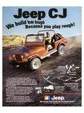 Jeep CJ - We Build 'Em Tough Art