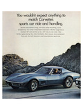 GM Corvette Sports Car Ride Posters