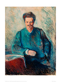 August Strindberg, 1892 Giclee Print by Edvard Munch