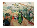 Village street Kragerö Giclee Print by Edvard Munch