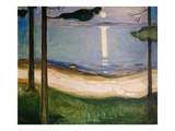 Moonlight, 1895 Giclee Print by Edvard Munch
