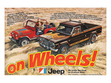 Jeep Renegade Pickup-On Wheels Poster