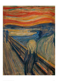 The Scream, 1893 Giclée-trykk av Edvard Munch