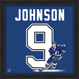 Tyler Johnson, Lightning Framed photographic representation of the player's jersey Framed Memorabilia