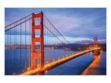 Golden Gate Bridge and Bay Ca Posters