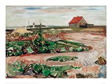Lanscape near Travemunde, 1907 Giclee Print by Edvard Munch