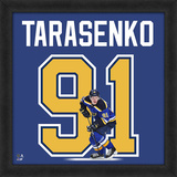 Vladimir Tarasenko, Blues Framed photographic representation of the player's jersey Framed Memorabilia