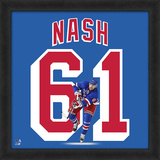 Rick Nash, Rangers Framed photographic representation of the player's jersey Framed Memorabilia