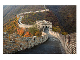 Great Wall of China in Autumn Posters