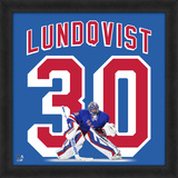 Henrik Lundqvist, Rangers Framed photographic representation of the player's jersey Framed Memorabilia
