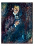 Self Portrait with Cigarette, 1895 Giclee Print by Edvard Munch