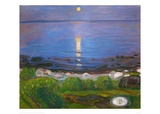 Summer Night on the Beach Giclee Print by Edvard Munch