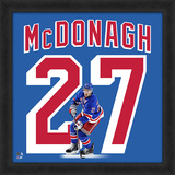Ryan McDonagh, Rangers Framed photographic representation of the player's jersey Framed Memorabilia