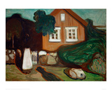 House in Moonlight, 1895 Giclee Print by Edvard Munch