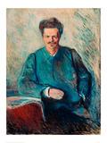 August Strindberg, 1892 Giclee Print by Edvard Munch
